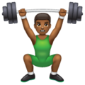 Man Lifting Weights: Medium-Dark Skin Tone on WhatsApp 2.19.244
