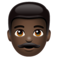 Man: Dark Skin Tone on WhatsApp 2.19.244