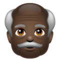 Old Man: Dark Skin Tone on WhatsApp 2.19.244