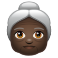 Old Woman: Dark Skin Tone on WhatsApp 2.19.244