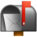 Open Mailbox With Raised Flag on WhatsApp 2.19.244