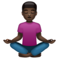Person in Lotus Position: Dark Skin Tone on WhatsApp 2.19.244