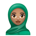 Woman With Headscarf: Medium Skin Tone on WhatsApp 2.19.244