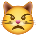 Pouting Cat Face on WhatsApp 2.19.244