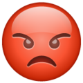 Pouting Face on WhatsApp 2.19.244