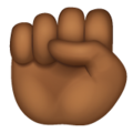 Raised Fist: Medium-Dark Skin Tone on WhatsApp 2.19.244