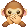 Speak-No-Evil Monkey on WhatsApp 2.19.244