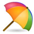 Umbrella on Ground on WhatsApp 2.19.244