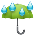 Umbrella With Rain Drops on WhatsApp 2.19.244