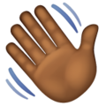 Waving Hand: Medium-Dark Skin Tone on WhatsApp 2.19.244
