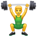 Person Lifting Weights on WhatsApp 2.19.244