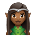Woman Elf: Medium-Dark Skin Tone on WhatsApp 2.19.244