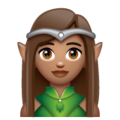 Woman Elf: Medium Skin Tone on WhatsApp 2.19.244