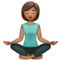 Woman in Lotus Position: Medium Skin Tone on WhatsApp 2.19.244