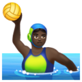 Woman Playing Water Polo: Dark Skin Tone on WhatsApp 2.19.244