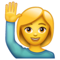 Woman Raising Hand on WhatsApp 2.19.244