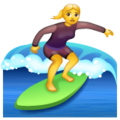 Woman Surfing on WhatsApp 2.19.244