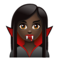 Woman Vampire: Dark Skin Tone on WhatsApp 2.19.244