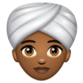 Woman Wearing Turban: Medium-Dark Skin Tone on WhatsApp 2.19.244