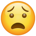 Anguished Face on WhatsApp 2.19.352