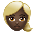 Woman: Dark Skin Tone, Blond Hair on WhatsApp 2.19.352