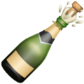 Bottle with Popping Cork on WhatsApp 2.19.352