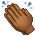 Clapping Hands: Medium-Dark Skin Tone on WhatsApp 2.19.352
