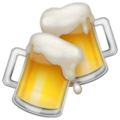 Clinking Beer Mugs on WhatsApp 2.19.352