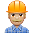 Construction Worker: Medium-Light Skin Tone on WhatsApp 2.19.352