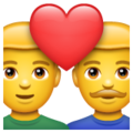 Couple with Heart: Man, Man on WhatsApp 2.19.352