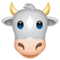 Cow Face on WhatsApp 2.19.352