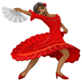 Woman Dancing: Medium-Dark Skin Tone on WhatsApp 2.19.352