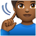 Deaf Person: Medium-Dark Skin Tone on WhatsApp 2.19.352
