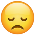 Disappointed Face on WhatsApp 2.19.352