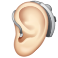 Ear With Hearing Aid: Light Skin Tone on WhatsApp 2.19.352