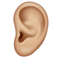 Ear: Medium-Light Skin Tone on WhatsApp 2.19.352