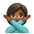 Person Gesturing No: Medium-Dark Skin Tone on WhatsApp 2.19.352