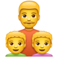 Family: Man, Boy, Boy on WhatsApp 2.19.352