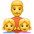 Family: Man, Girl, Girl on WhatsApp 2.19.352