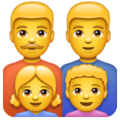 Family: Man, Man, Girl, Boy on WhatsApp 2.19.352