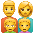 Family: Man, Woman, Boy, Boy on WhatsApp 2.19.352