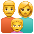 Family: Man, Woman, Boy on WhatsApp 2.19.352