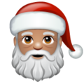 Santa Claus: Medium Skin Tone on WhatsApp 2.19.352