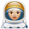 Woman Astronaut: Medium-Light Skin Tone on WhatsApp 2.19.352