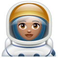 Woman Astronaut: Medium Skin Tone on WhatsApp 2.19.352