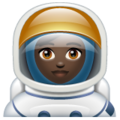 Woman Astronaut: Dark Skin Tone on WhatsApp 2.19.352
