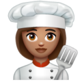 Woman Cook: Medium Skin Tone on WhatsApp 2.19.352