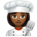Woman Cook: Medium-Dark Skin Tone on WhatsApp 2.19.352