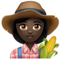 Woman Farmer: Dark Skin Tone on WhatsApp 2.19.352