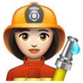 Woman Firefighter: Light Skin Tone on WhatsApp 2.19.352